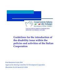 Ministry of Foreign Affairs - Cooperazione Italiana allo Sviluppo