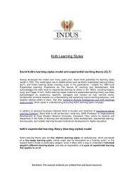 Kolb Learning Styles - ITARI