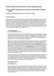Organisationsentwicklung durch Insider- Outsider Teams - Prof. Dr ...