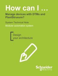 Design your architecture Manage devices with DTMs and ...