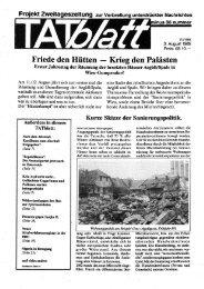 Friede den Hütten - Krieg den Palästen