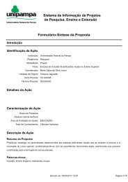 Sistema de Informação de Projetos de Pesquisa, Ensino e Extensão ...