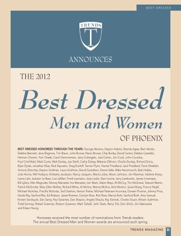Best Dressed Men and Women - Trends Magazine