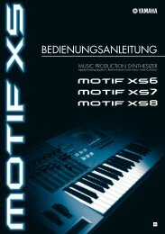 MOTIF XS - Owner's Manual - Yamaha