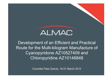 Development of an Efficient and Practical Route for the Multi ... - Almac