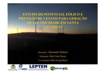 estudo do potencial eólico e previsão de ventos para ... - LEPTEN
