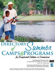 CAMPS PROGRAMS - The State Education Resource Center