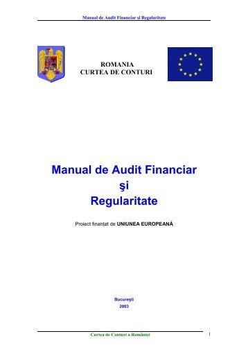 Manual de Audit Financiar şi Regularitate - Curtea de Conturi