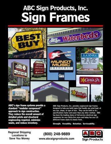 Sign Frames - ABC Sign Products