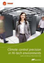 Climate control precision in Hi-tech environments