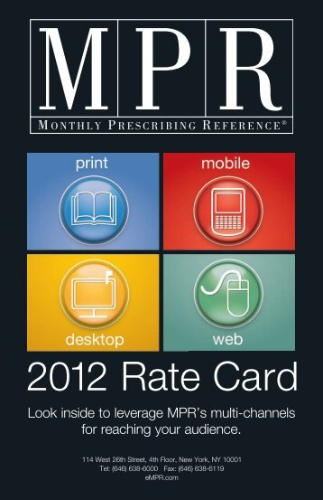 2012 Rate Card - MPR