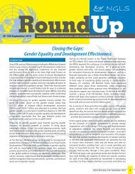 Closing the Gaps: Gender Equality and Development ... - NGLS