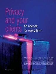 Privacy and your clients: An agenda for every firm - practicePRO.ca