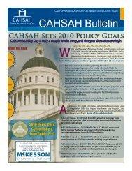 CAHSAH Bulletin