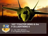 162nd FIGHTER WING & the F-35 LIGHTNING II - Davis-Monthan ...