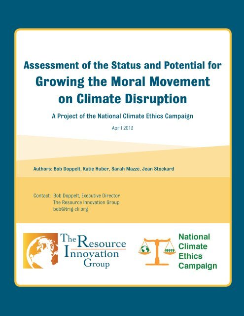 an assessment of the moral movement on climate disruption