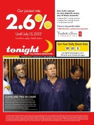 Our† juiciest rate Until July15, 2013* - tonight Newspaper