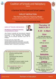 March 11 - Association of Independent Schools of Western Australia