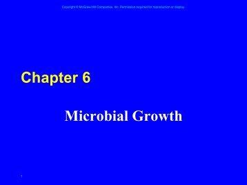 Chapter 6 Microbial Growth - web.biosci.utexas.edu