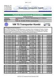 VW T5 Transporter Kombi