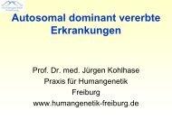 Genomische Erkrankungen - Praxis für Humangenetik Freiburg