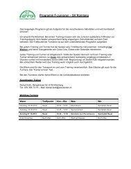 Programm F-Junioren – SV Rümlang