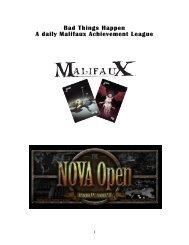 Bad Things Happen A daily Malifaux Achievement ... - NOVA Open
