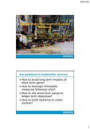 Lessons on Recovery from Mega-Disasters for Post-2015 ...