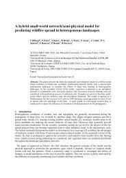 A hybrid small-world network/semi-physical model for predicting ...
