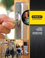 stanley mechanical solutions condensed service and ... - DH Pace