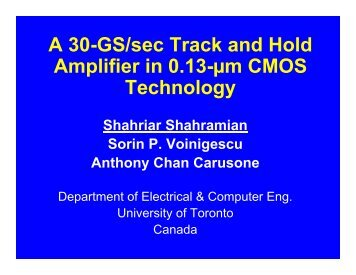 PDF Format, Slides - University of Toronto
