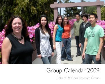 Group Calendar 2009 - The Robert M. Corn Group Info Page