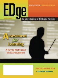 Assessment for learning: A Key to motivation and achievement