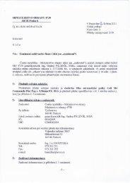 Oznámení - Veřejné zakázky - Ministerstvo obrany