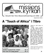 """A """"Touch of Africa"""" i Tibro - Missionskyrkan Tibro"""