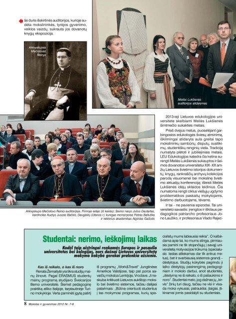 Mokslas ir gyvenimas 2012 Nr. 7-8 1 - Vilniaus universitetas