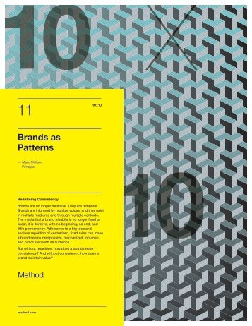 Brands as Patterns - Method