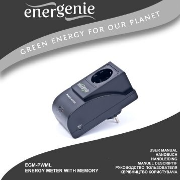 User's Manual - EnerGenie