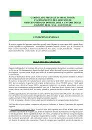 capitolato speciale d'appalto per l'affidamento del servizio di ...