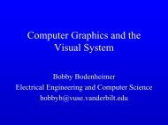 Computer Graphics and the Visual System - Vanderbilt University ...