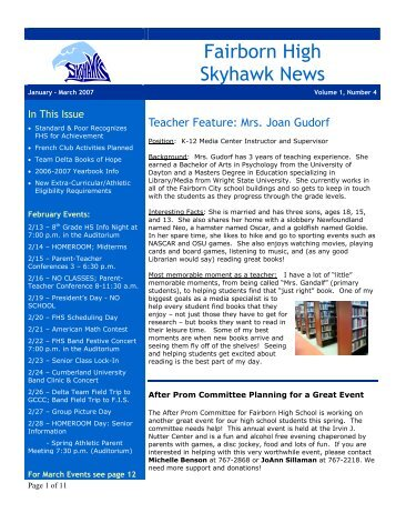 Fairborn High Skyhawk News - Fairborn City Schools