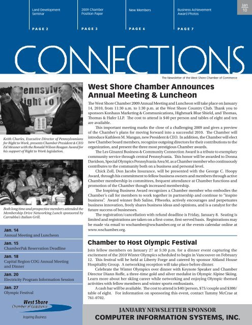 West Shore Chamber Announces Annual Meeting & Luncheon
