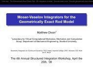 Moser-Veselov Integrators for the Geometrically Exact Rod Model