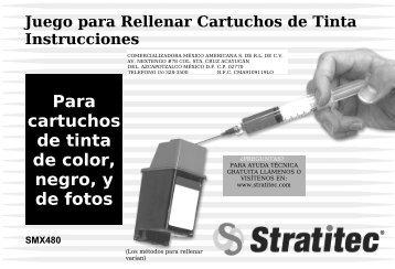 Para cartuchos de tinta de color, negro, y de fotos - Stratitec