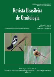 Capa 20(1) - fechada.indd - Sociedade Brasileira de Ornitologia