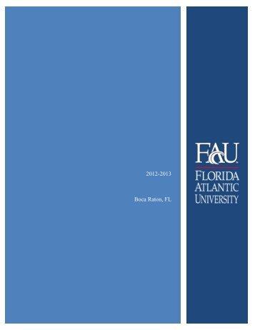 2012-2013 Boca Raton, FL - FAU - Florida Atlantic University