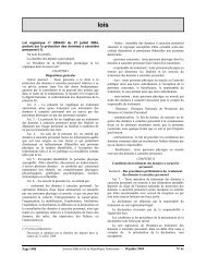 Journal Officiel de la République Tunisienne e 30 juillet 2004 Nƒ 61 ...