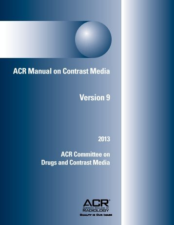 ACR publishes new manual on contrast media