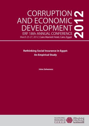 Rethinking Social Insurance in Egypt - Economic Research Forum