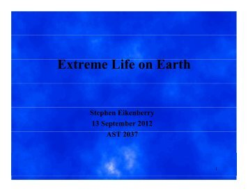 Extreme Life on Earth